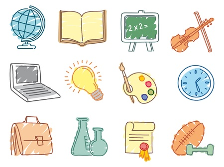 Education icons Stock Vector - 9929596