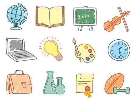 com: Education icons