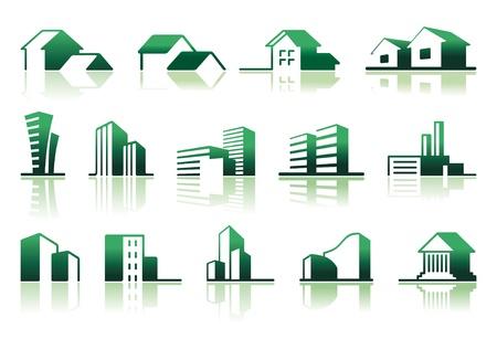 Real estate symbols Stock Vector - 9929595
