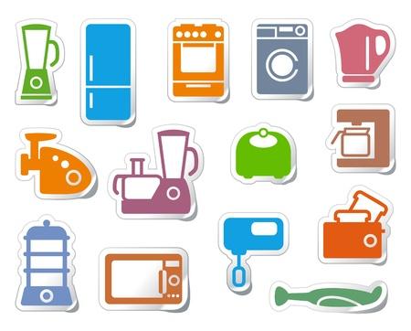 Keuken huishoudelijke apparaten Vector Illustratie