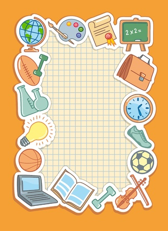 pc icon: School background Illustration