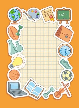 School background Ilustração