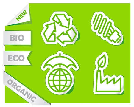 Icons of preservation of the environment Vector