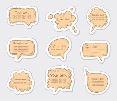 Hand-Drawn Speech Bubbles Sketchy Doodles     Vector