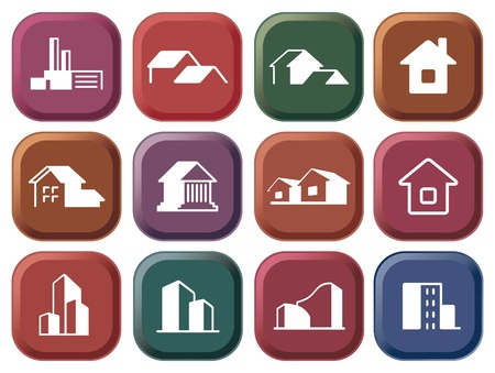 House icon collection Stock Vector - 10617828