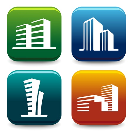 office building exterior: House icon collection