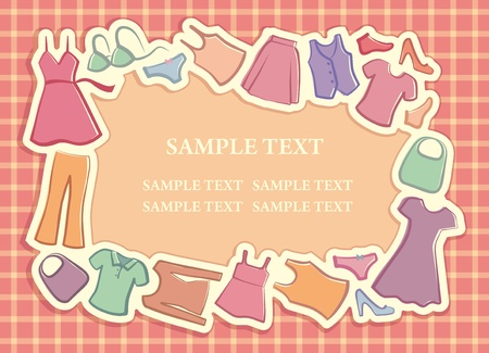 Ladys clothes in the form of a framework Vector