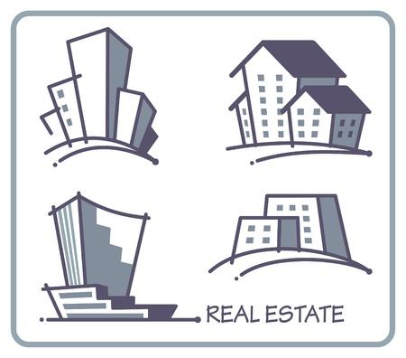 logo batiment: Icônes immobilier