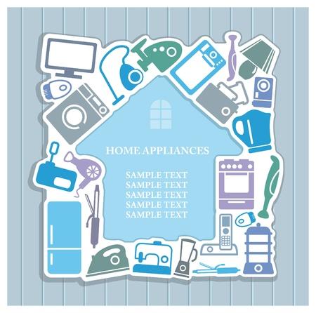 Achtergrondinformatie over huishoudelijke apparaten thema Vector Illustratie