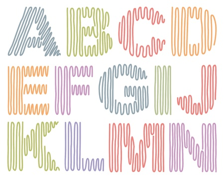 initials: Hand drawing alphabet