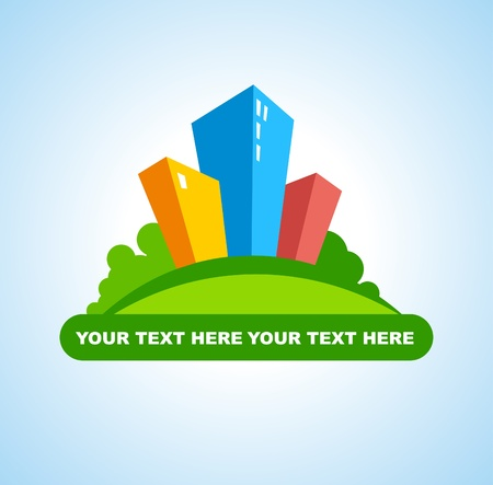 Symbol of the city real estate Vector