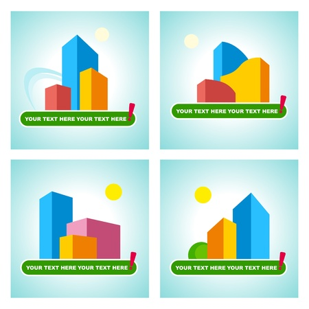 Symbols of the city real estate Vector