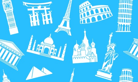 Seamless background of sights Vector