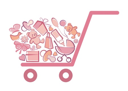 Symbol of the children s goods Vector