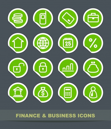 Finance and business icons Vector