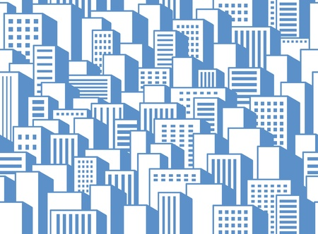 Seamless background of a city Vector