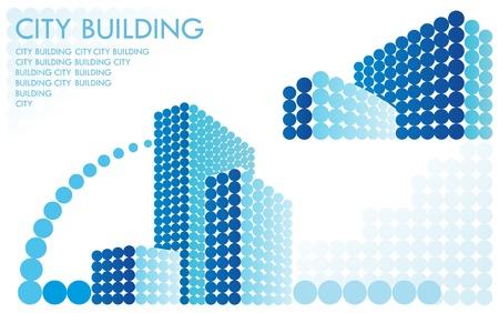 부동산 기호. 추상 건축 구성