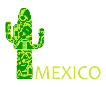 mexican ethnicity: Cactus - a symbol of Mexico