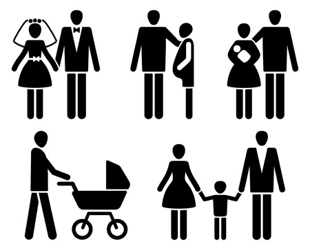Family pictogrammes Vector