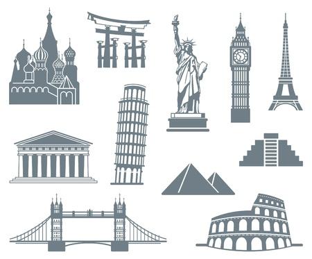 india city: Mondo Landmark Icon Set