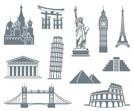 World Landmark Icon Set Imagens - 16456907