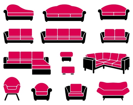 Armchairs and sofas Vector