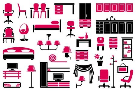 butacas: Muebles conjunto de iconos