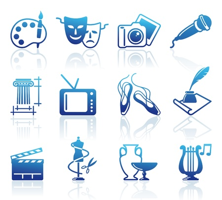 Culture and Art  icons Stock Vector - 16664607