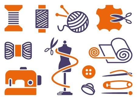 maquina de coser: Costura y bordado iconos