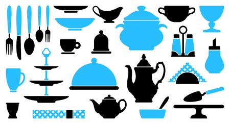Tableware icons Stock Vector - 17921884
