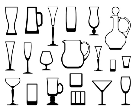 Outlines of ware from glass and crystal Stock Vector - 17921883