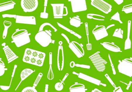 colander: Seamless Kitchen background Illustration