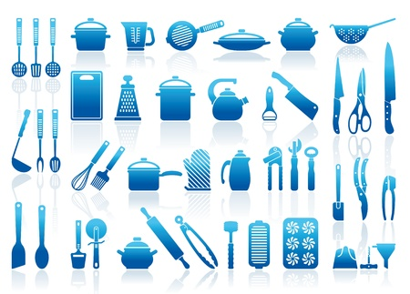 ladle: Icons of kitchen ware, utensils and tools