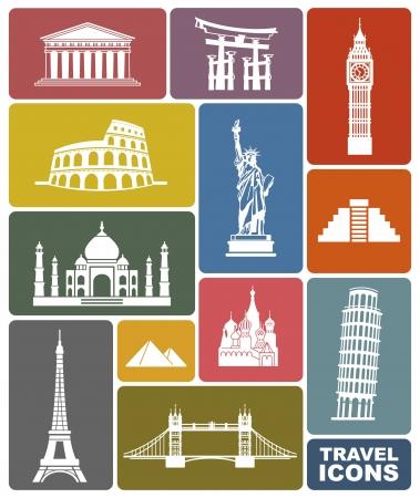 roma antigua: Iconos de Viajes Vectores