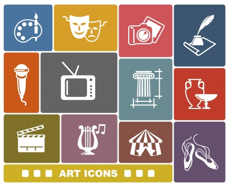 performance art: Art icons Illustration