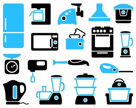 home appliances: Aparatos de cocina en casa Vectores