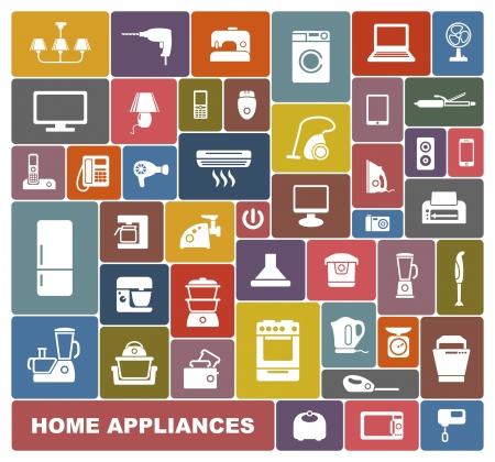 objetos de la casa: Electrodom?icos Vectores