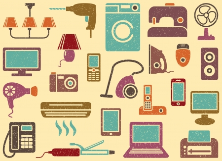 electricals: Home appliances Illustration