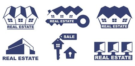 Real estate icons Stock Vector - 20172235