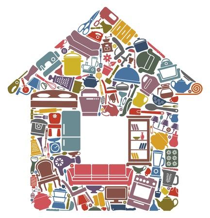 Todo para la casa Ilustración de vector