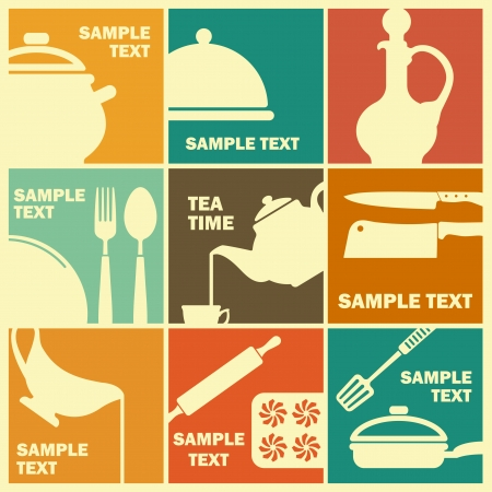 Cooking icons Illustration