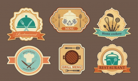 Menu stickers Vector