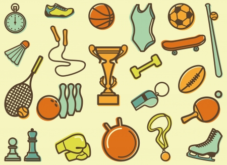Seamless background with sports symbols Vector