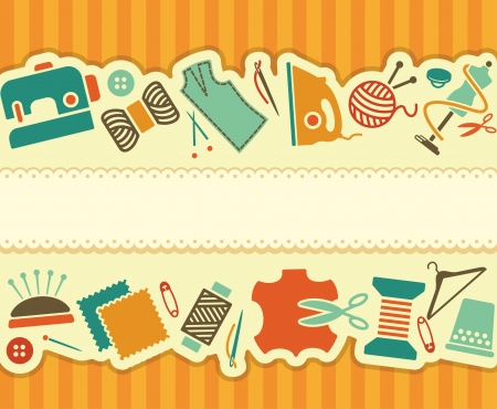 Naaien en handwerken banner Vector Illustratie