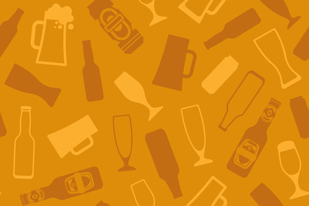 Seamless background on a beer theme Vector