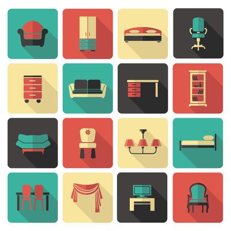 furnishings: Furniture icon set