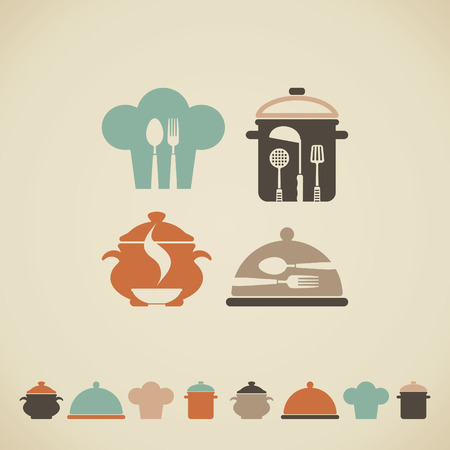 Cooking symbols 일러스트