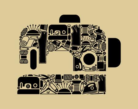 Sewing-machine Illustration