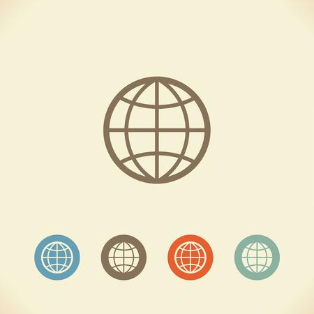 meridians: Earth globe Illustration
