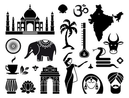 serpiente cobra: Iconos de la India